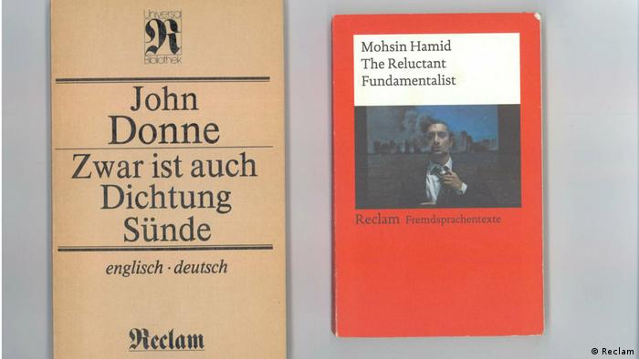 Two Reclaim books, one bilingual and one in Englilsh, side by side (Reclam)