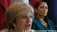 UK Theresa May und Priti Patel ARCHIV