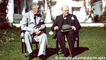 Konferenz von Casablanca 1943 / Roosevelt und Churchill