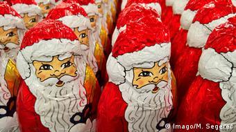 Weihnachtsmann aus Schokolade (Imago/M. Segerer)
