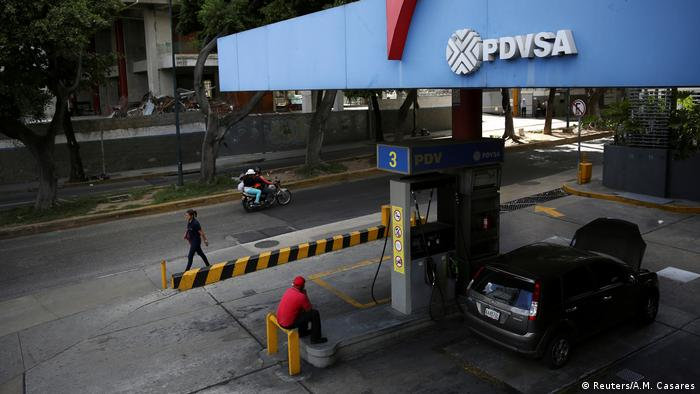 A state oil company PDVSA gas station in Caracas