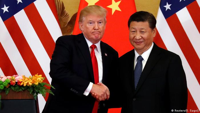 China Donald Trump & Xi Jinping