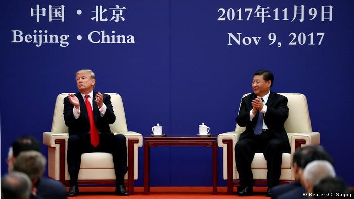 China USA Donald Trump & Xi Jinping | Treffen mit Wirtschaftsführern in Peking (Reuters/D. Sagolj)