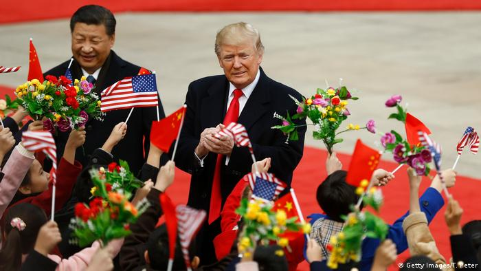 China USA Donald Trump & Xi Jinping in Peking (Getty Images/T. Peter)