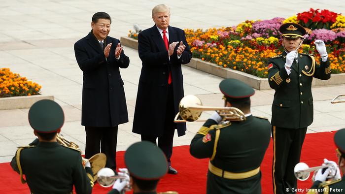 China US, Donald Trump & Xi Jinping in Beijing