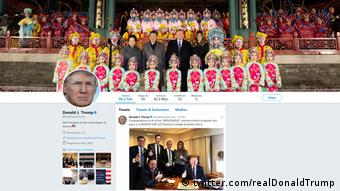 Twitter Account US-Präsident Donald Trump | China-Reise (twitter.com/realDonaldTrump)
