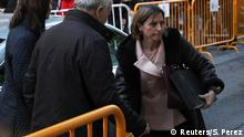 09.11.2017 *** Carme Forcadell, Speaker of the Catalan parliament, arrives to Spain's Supreme Court to testify on charges of rebellion, sedition and misuse of public funds for defying the central government by holding an independence referendum and proclaiming independence, in Madrid, Spain, November 9, 2017. REUTERS/Sergio Perez