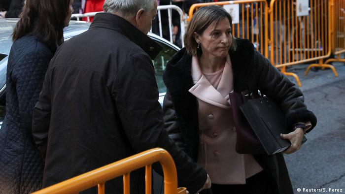 Former president of the Catalan parliament Carme Forcadell