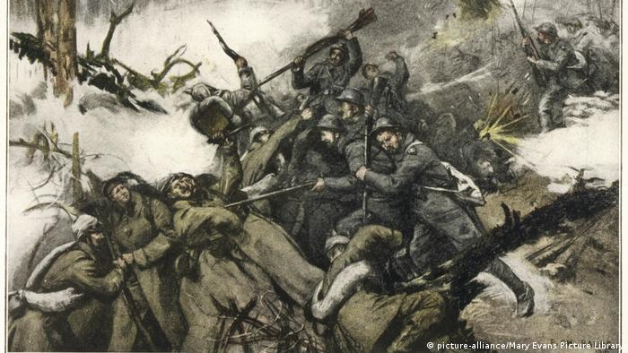 A painting that captures horror of the battles in Hartmannswillerkopf