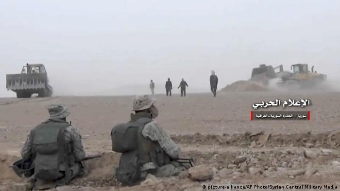 Syrien Krieg - Kämpfe in Albu Kamal gegen den IS