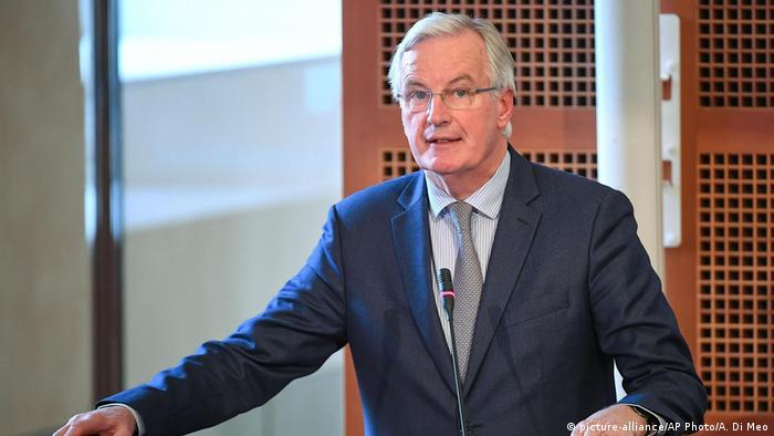 Italien Brexit-Verhandlungen | Michel Barnier (picture-alliance/AP Photo/A. Di Meo)