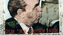 Deutschland Berlin Mauer Bruderkuß von Dimitri Vrubel aus Moskau