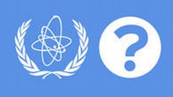 IAEA logo with question mark