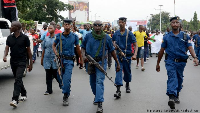 Protest in Burundi against the findings of the UN report
