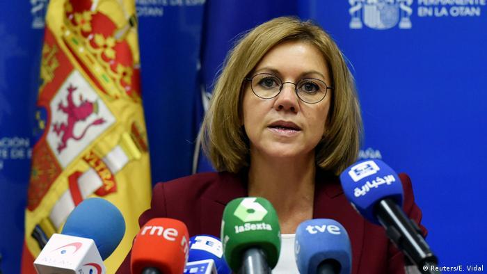 Brüssel | NAC-Pressekonferenz spanische Verteidigungsministerin Maria Dolores de Cospedal (Reuters/E. Vidal)