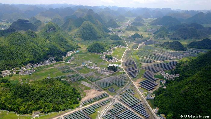 Photovoltaik-Anlage in Anlong, China (AFP/Getty Images)