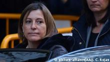 09.11.2017 MADRID, SPAIN - NOVEMBER 09 : Former speaker of Catalonia's dissolved parliament Carme Forcadell (C) arrives at the Supreme Court in Madrid, Spain on November 9, 2017 to be questioned over her role in Catalonia's independence drive. A judge may decide to detain Forcadell and five former lawmakers on charges of sedition, rebellion and misuse of public funds after Catalan lawmakers voted last month to split from Spain. That declaration was annulled by Spain's Constitutional Court. Juan Carlos Rojas / Anadolu Agency |