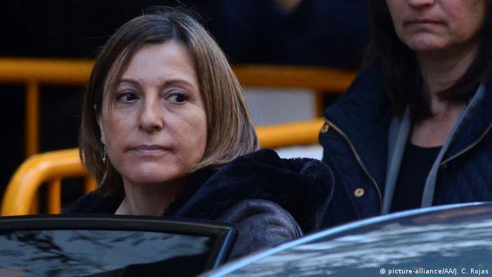 Spanien Madrid Carme Forcadell vor dem Obersten Gerichtshof (picture-alliance/AA/J. C. Rojas)