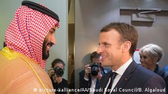 Saudi-Arabien Riad Besuch Emmanuel Macron (picture-äalliance/AA/Saudi Royal Council/B. Algaloud)