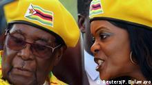 Simbabwe Robert Mugabe mit Ehefrau Grace in Harare