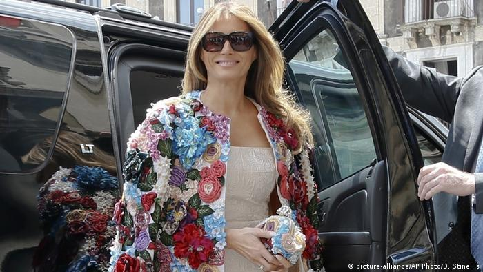 First Lady Melania Trump in Italien (picture-alliance/AP Photo/D. Stinellis)