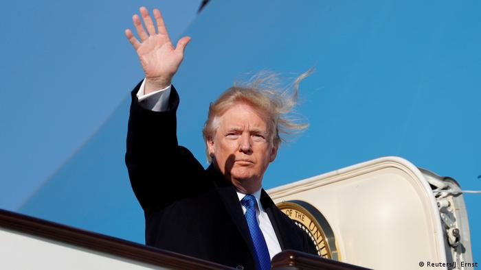 USA Donald Trump Abflug aus Peking