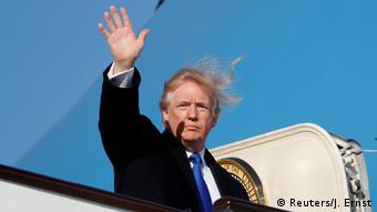 USA Donald Trump Abflug aus Peking (Reuters/J. Ernst)