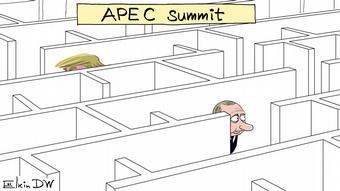 Trump and Putin in a maze