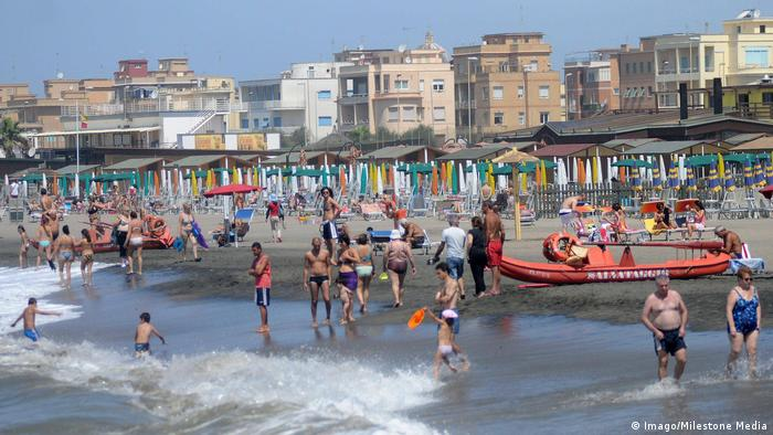 Beach in Ostia, Italy