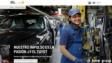 Screenshot bmwgroup.jobs Mexiko