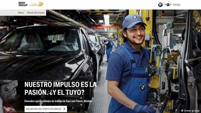 Screenshot bmwgroup.jobs Mexiko (bmw group)