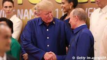 Vietman APEC Gipfel Trump Putin Handschlag