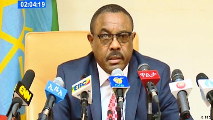 Äthiopien PK Ministerpräsident Hailemariam Desalegn (EBC )