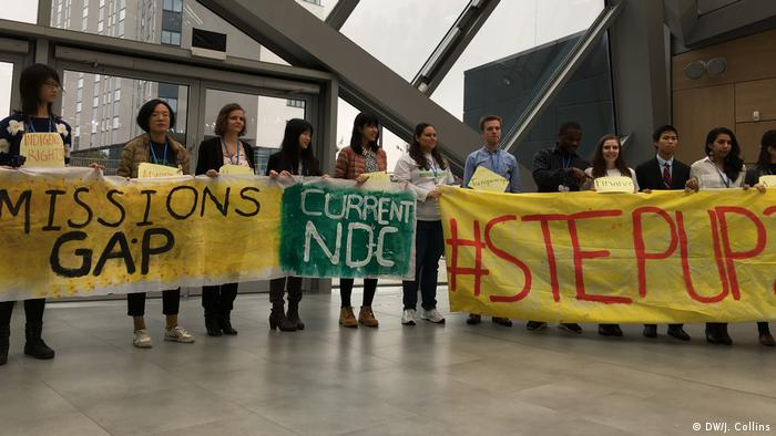 Photo: The Care about Climate Group at COP23 Climate Conference in Bonn (DW/J. Collins)