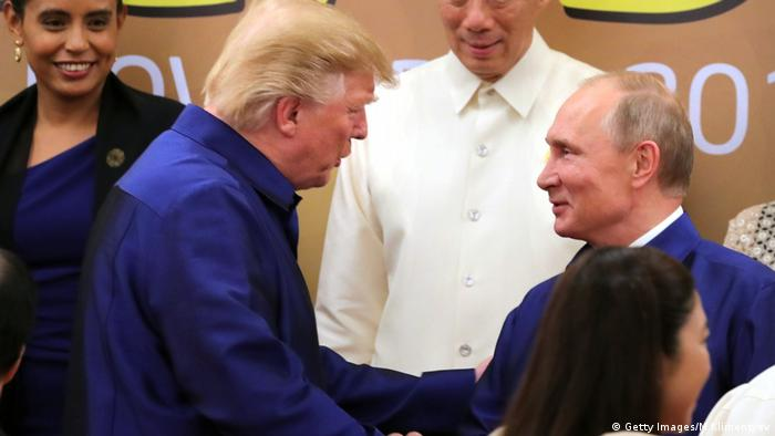 APEC Donald Trump und Wladimir Putin (Getty Images/M.Klimentyev)