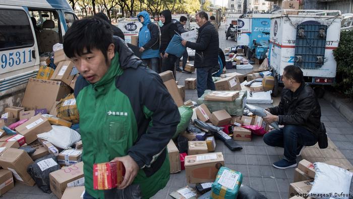 Día de los solteros de China Wirtschaft Compras en línea (Getty Images / F.Dufour)