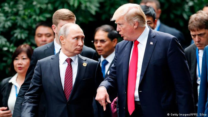 Russian President Vladimir Putin and US President Donald Trump meet at APEC
