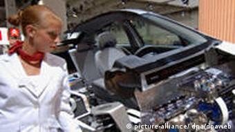 Querschnittmodell eines Toyota Prius