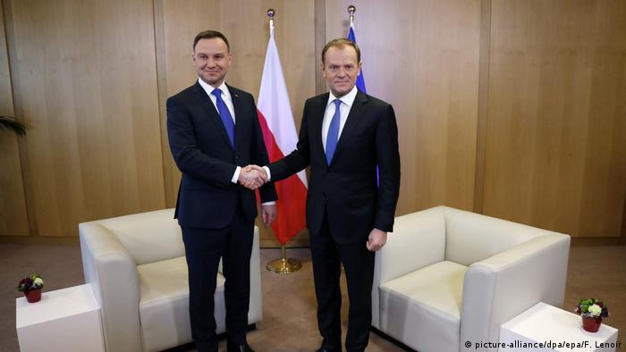 Дональд Туск и президент Польши Анджей Дуда