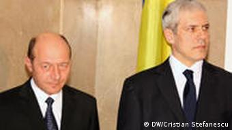 Rumänien Land und Leute Präsident Traian Basescu und Boris Tadic