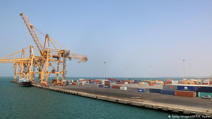 A view of Yemen's rebel-held Red Sea port of Hodeida