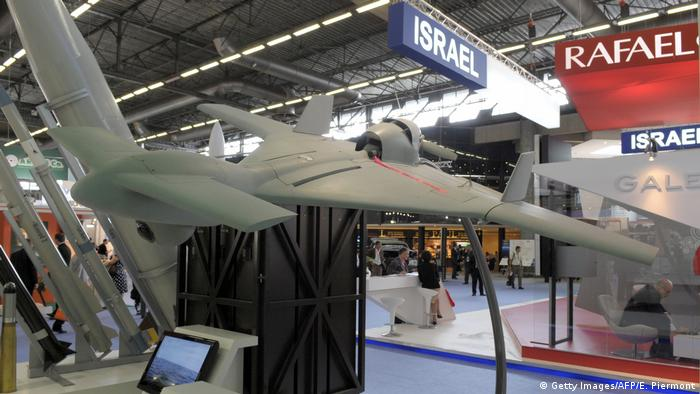The Israeli unmanned Harpy drone (UCAV) Harop (Getty Images/AFP/E. Piermont)