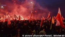 Polen   Demonstration polnischer Nationalisten am Unabhängigkeitstag
