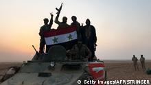 Syrien Kämpfe in der Nähe von Albu Kamal gegen den IS