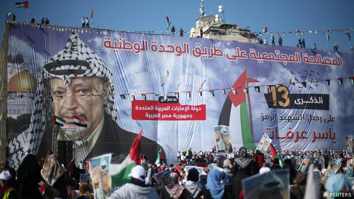 Palästina Gaza | Feierlichkeiten zum 10. todestag Arafats (REUTERS)