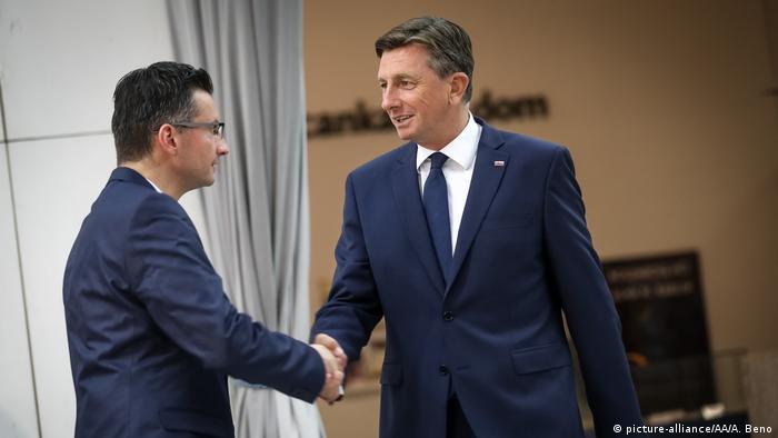 Slowenien | Kandidaten Präsidentschaftswahl Borut Pahor und Herausforderer Marjan Sarec (picture-alliance/AA/A. Beno)