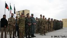 Italian NATO troops trains Afghan Special Forces in west Afghanistan. More than 20 ASF graduated today in a joint ceremony. NATO and US plans to send near 3500 additional troops to Afghanistan to boost Training program of Afghan security forces to battel Taliban insurgency and IS in the war-torn country. NATO announced in its recent defense minister's summit in Brussels that the new NATO troops will focus on training of ASF and commando's. Photo: Shoib Tanha