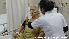 Indien | Patient mit durch Smog verursachten Atemnotproblemen