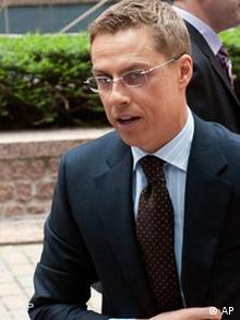Finnischer Außenminister Alexander Stubb in Brüssel
