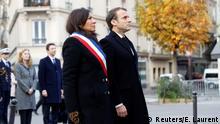 Frankreich zweiter Jahrestag der Anschläge in Paris Macron und Hidalgo